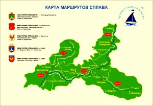 chernyhiv river cluster map